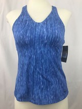 Nike Tankini Swimsuit Top Womens Blue Racerback Size Small New - $29.97