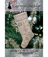 Winter Snow Stocking Ornament cross stitch chart Heartstring Samplery - $9.00