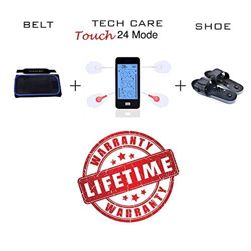 Tens Unit Device Muscle Stimulator Massager Set with Fat Burner Belt and Reflexo for sale  USA