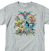 Justice League T-shirt DC comic book super friends hero cartoon grey tee DCO112 image 1