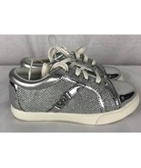 Jessica Simpson Aurora Youth toddler Girl's Silver Shoes size 10 - $27.82