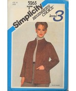 1980s Size 16 Bust 38 Funnel Neck Jacket Faux Suede Simplicity 5263 Pattern - $6.99