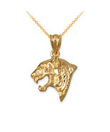 Yellow Gold Tiger Head DC Charm Necklace - $109.99+