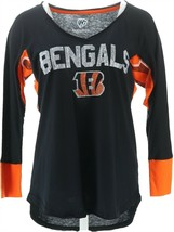 NFL Hands High Womens 3/4 Slv Tee Jimmy Fallon Bengals M NEW A284988 - $11.86