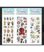 PUFFY Stickers Wrestling Spongebob Nightmare Halloween Mixed Pack FREE S... - $8.99