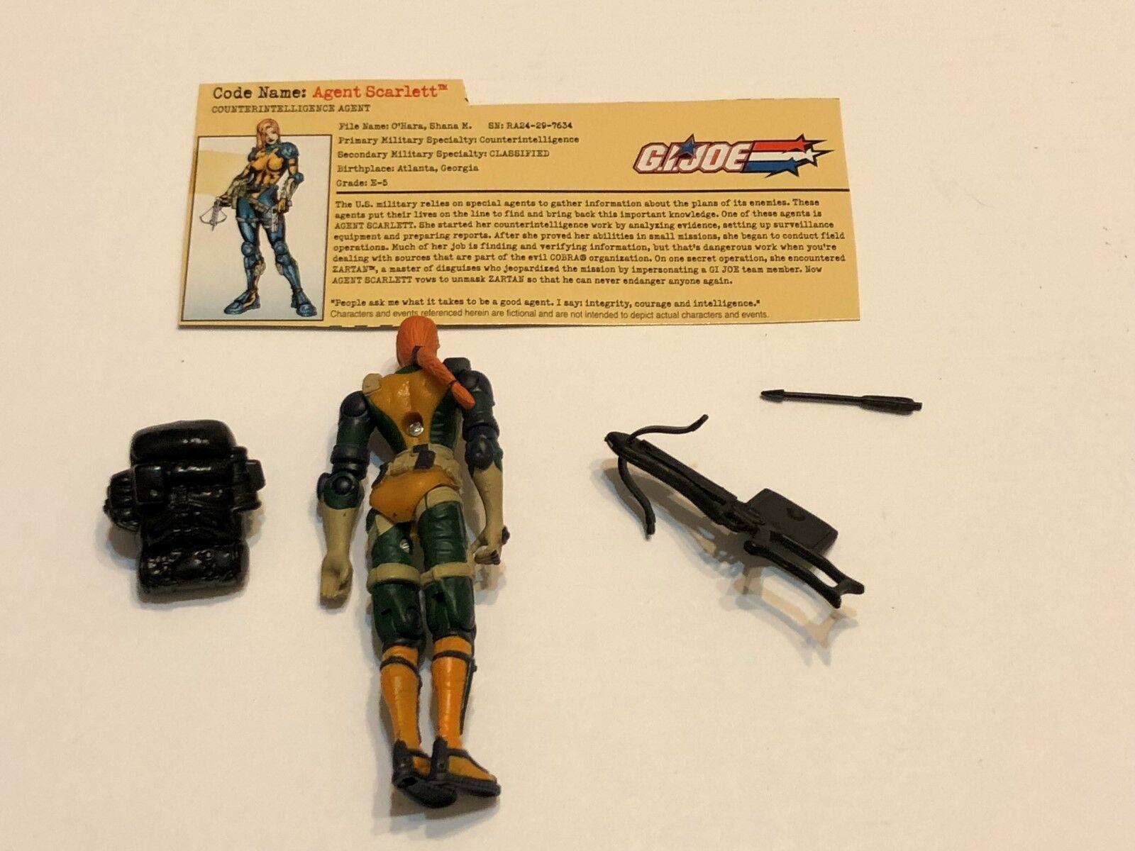 2002 G.I. JOE Action Figure Agent Scarlett ( Ref # 4-14 ) image 2
