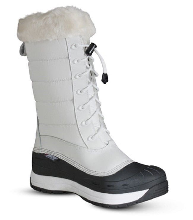 New Ladies Size 9 White Baffin Iceland Snowmobile Winter Snow Boots Rated -40F