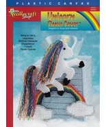 Unicorn Tissue Cover Plastic Canvas Mythical Character Clouds Rainbow Pa... - $1.93