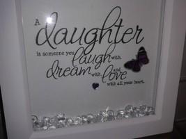 Daughter gift keep sake white deep box frame hand crafted daughter gift - $14.64