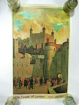 Vintage London Transport Travel Poster - The Tower of London Mark Lane S... - $249.95