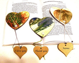 Set 3 Bookmarks, Wedding Thank You Bookmarks, Wedding Bookmark Gift, Boo... - $15.00