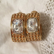 Vintage 80s Swarovski S.A.L. Rhinestone Earrings - $30.00