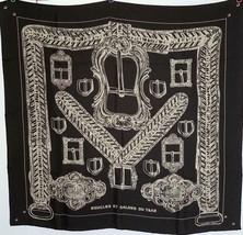 Hermes Scarf Boucles et Galons du Tsar wash scarf 90 Black - $490.05