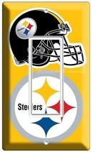 PITTSBURGH STEELERS NFL FOOTBALL TEAM LOGO SINGLE GFCI LIGHT SWITCH PLAT... - $8.99