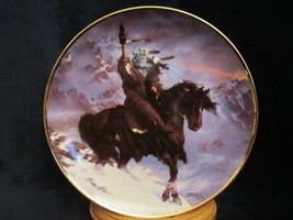 Spirit Of The West Wind Collector Plate Hermon Adams Native Western Heritage - $9.99