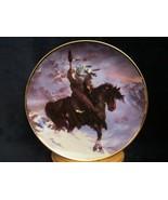 SPIRIT OF THE WEST WIND collector plate HERMON ADAMS Native WESTERN HERI... - $9.99