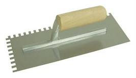 Marshalltown 16173 QLT Square Wood Handle Notched Trowel 11 L x 4-1/2 W in. - $35.99