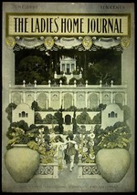 JUNE, 1901 THE LADIES HOME JOURNAL MAGAZINE COVER MAXFIELD PARRISH ART! - $18.95