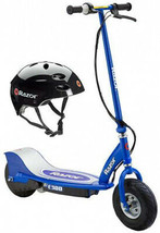 Razor E300 Electric Scooter (Blue) and Youth Helmet (Black) - $386.95