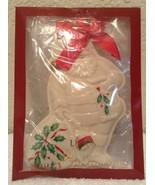"Lenox Christmas Holiday Santa with Sack 6"" x 4.5"" White Cookie press. NEW! - $15.96"
