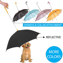 Pour-Protection Pet Dog Rain Umbrella With Reflective Lining and Leash H... - $21.24