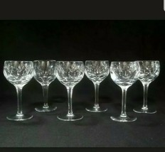 Gorham Bamburg Set of (6) Elegant Vintage cut Wine Glasses - $120.75