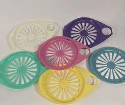 "LOT OF 6 PLASTIC 9"" Paper Plate/CUP Holders - TRAYS- PICNIC - BBQ - FREM... - $14.50"