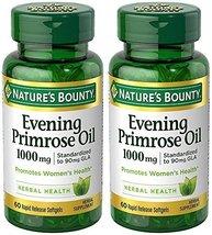 Evening Primose Oil 1000 mg, 2 Bottles (60 Count) - $35.40