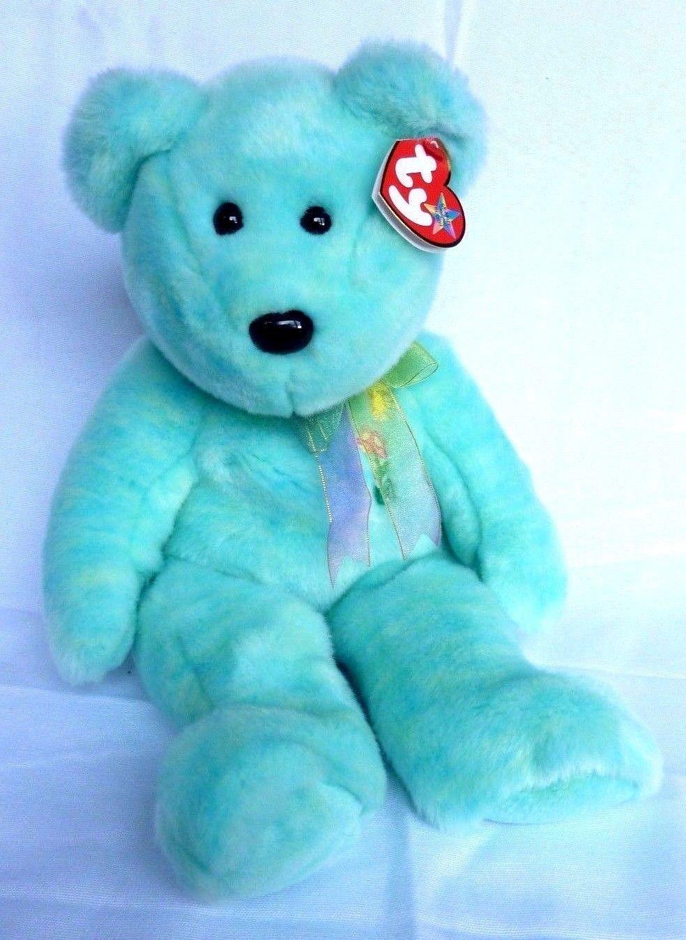 9ad15668297 TY Beanie Buddies Ariel The Bear 2001 Aqua and 50 similar items. S l1600