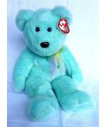"TY Beanie Buddies Ariel The Bear 2001 Aqua Green 14"" Tall Plush Stuffed ... - $13.67"