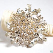 Rhinestone Crystal Brooch Pin Wedding Cake Decoration - $28.00