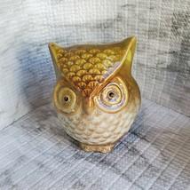 Ceramic Owls, set of 3, Decorative Accents, Fall Decor, orange green brown image 4