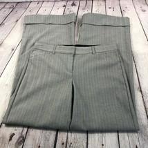Express Women's Editor Pants Gray Herringbone Geometric Pattern Cuffed Size 6 - $24.03