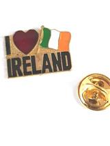 i heart ireland Lapel Pin Badge / tie pin. in gift box enamel finish, ireland