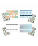 "B-THERE Bundle of 4 Yearly Undated Dry Erase Calendars - 36"" x 24"" w/Dry... - $13.69"