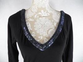 Guess Jeans Women's Sz Small Beaded Tunic Jersey Dress Black - $29.65