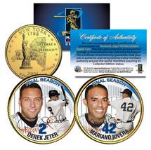 DEREK JETER & MARIANO RIVERA Final Season 2-Coin Set 24K Gold Plated NY ... - $8.86