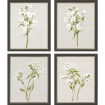 Paragon Decor Painting Set of 4 White Field Flowers S/4 22 H x 18 W x 3 D - $499.00