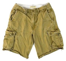 American Eagle Outfitters Drawstring Beige Tan Cargo Shorts Cotton Mens ... - $9.89