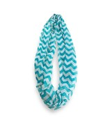 Turquoise White Chevron Stripped Infinity Scarf Loop Sheer Wrap Scarves - €8,71 EUR