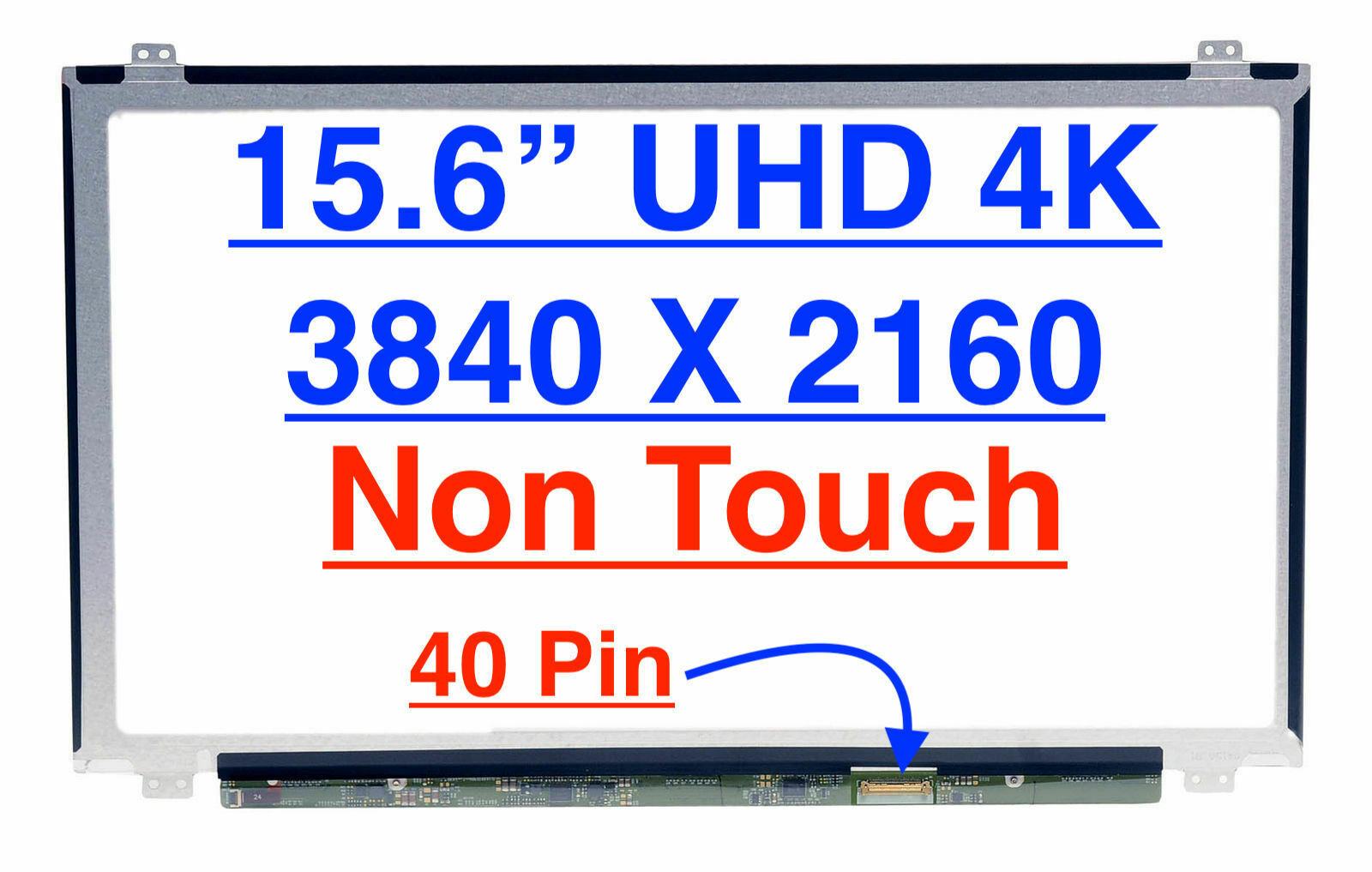 "Primary image for 15.6"" UHD 4K Screen LP156UD1-SPB1 (SP)(B1) fits LTN156FL02-L01 LTN156FL03-B01"