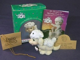 Precious Moments I'VE GOT YOU UNDER MY SKIN Puppy with Lamb Skin BC922 B... - $12.59
