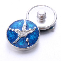 Boom Life 2019 New 10pcs/lot Blue Starfish Styles Metal Charms 18mm Snap Button  - $10.81