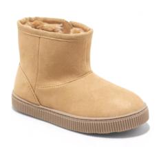 Cat & Jack Toddler Boys' Tan Faux Leather Fur Arias Winter Zipper Ankle Boots image 1