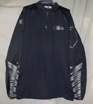 2014 Seattle Seahawks Travian Robertson Player Worn Used Jersey Nike Jacket - $98.99