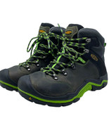 KEEN Youth Size 2 US High Trail Hiking Waterproof Boots Lace up Black Green - $35.49