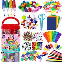 FunzBo Arts and Crafts Supplies Jar for Kids - Craft Art Supply Kit for - $34.87