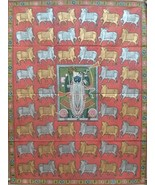 Traditional wall painting shrinathji indian art antique pichwai decorati... - $466.57