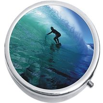 Surfer Wave Ocean Medicine Vitamin Compact Pill Box - $9.78