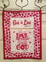 Christian Wall Hanging 12 x 14 God is Love 1 John 4:7-8 - $45.00